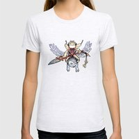 Snow Troll Womens Fitted Tee Ash Grey SMALL