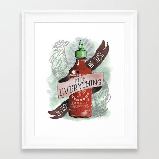 An Ode To Sriracha Framed Art Print