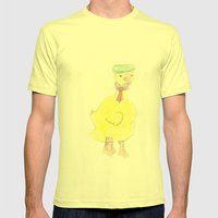 Childhood Drawings (Duck… Mens Fitted Tee Lemon SMALL