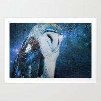 The Owl of Winter Art Print