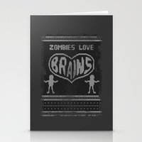 Zombie knitwear Stationery Cards