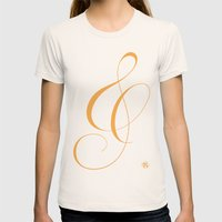 Nautica's Ampersand Womens Fitted Tee Natural SMALL