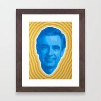 Mister Rogers Psychedelia Framed Art Print
