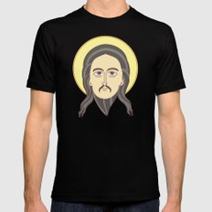 jesus icon Black Mens Fitted Tee SMALL