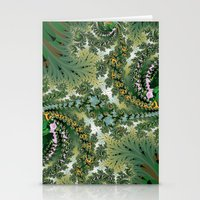 fractal Stationery Cards featuring Fractal by nicky2342