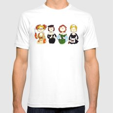 Ladies of Clue SMALL Mens Fitted Tee White