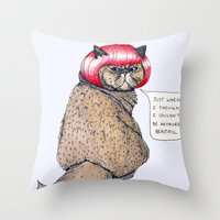 Cat Style Throw Pillow