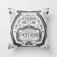 Legend of Zelda Blue Chu Potion Advertisement Throw Pillow