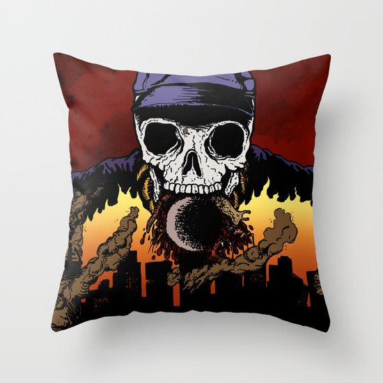 """Hip Hop Horror"" by Cap Blackard Throw Pillow"