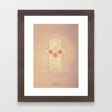 Christmas creatures- The Loving Bear Framed Art Print