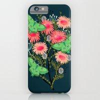 iPhone Cases featuring Luna Moth Florals by Andrea Lauren  by Andrea Lauren Design