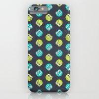 Blue Green Cute Bugs Pat… iPhone 6 Slim Case