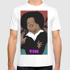 The Great Tim Maia Mens Fitted Tee White SMALL