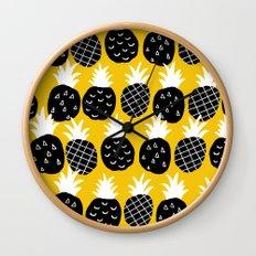 Black pineapple. Wall Clock