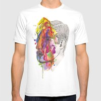 Breathe In Colour Mens Fitted Tee White SMALL