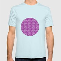 Circular Wave Mens Fitted Tee Light Blue SMALL