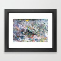 Camouflaged Framed Art Print