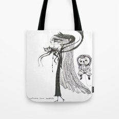 welcome home annabelle Tote Bag
