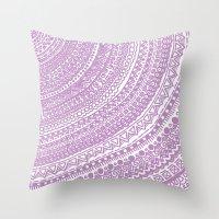 Pink Pulse O2. Throw Pillow