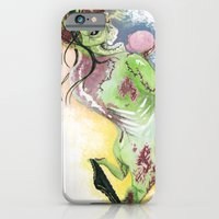 iPhone & iPod Case featuring Zombie Pin-up by Michael S.F.