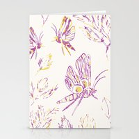 Butterflies In Purple An… Stationery Cards