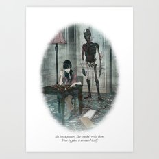 Behind You 37 Art Print