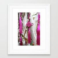 Chinese Knot (Magenta) Framed Art Print