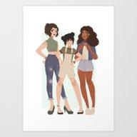 Art Print featuring Team Avatar by Punziella