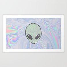 Alien Pastel Art Print