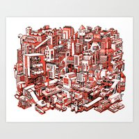 City Machine Art Print
