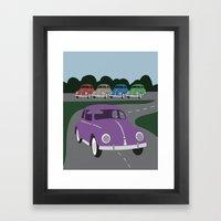 V Bug Framed Art Print
