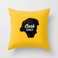 Cash Only (Gold) Throw Pillow