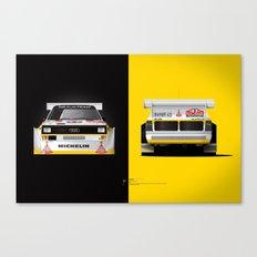 Group B Edition, N.º3, Audi Quattro S1 Canvas Print