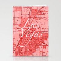 Vintage Las Vegas Red Stationery Cards