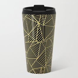 Travel Mug - Ab 2 R Black and Gold - Project M