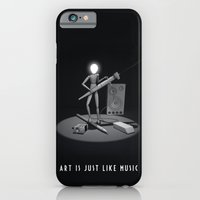 iPhone & iPod Case featuring art is just like music by mauro mondin