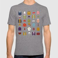 W.A Luggage Mens Fitted Tee Tri-Grey SMALL