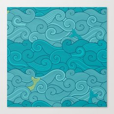 Surf Side - AQUA Canvas Print