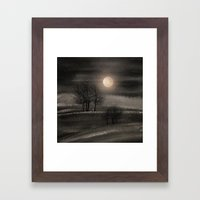 Calling The Moon III Framed Art Print