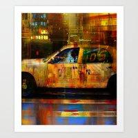 Missed cab  Art Print