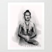 native american Art Prints featuring Native American by Bernardo Furlanetto