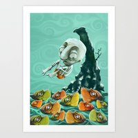 Take a Risk! - Piranhas Art Print