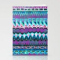 AZTEC STRIPE - pink Stationery Cards