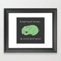 Dreaming of carrots Framed Art Print