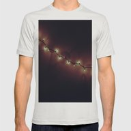 Muted Lights Mens Fitted Tee Silver SMALL