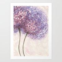 Purple Flower Watercolor Art Print