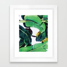 Martinique Banana leaf Beverly Hills Print Watercolor Framed Art Print