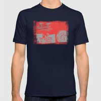 Canned Answers Mens Fitted Tee Navy SMALL
