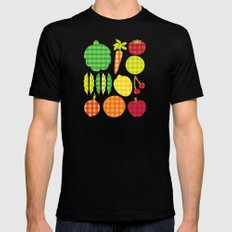 Gingham Goods Mens Fitted Tee SMALL Black