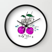 Cherry Twins Wall Clock